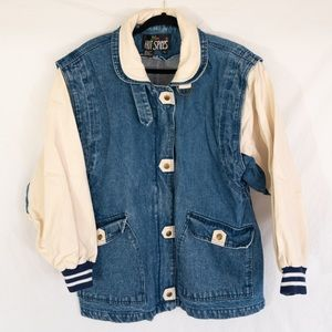 Vintage 80s 90s Denim Sports Jacket by Hot Spices